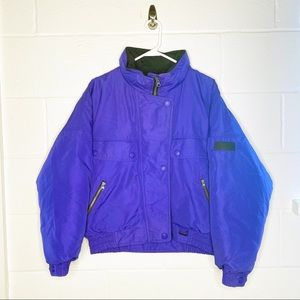 Eddie Bauer ebtech ski snow winter coat med purple